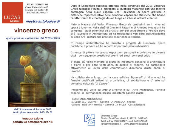 VINCENZO GRECO in mostra